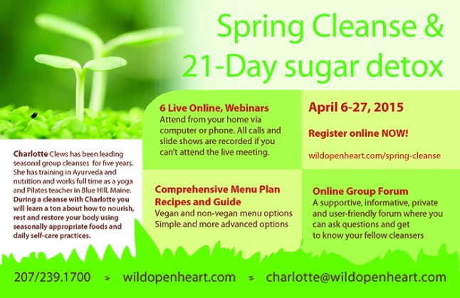 21–Day Spring Cleanse and Sugar Detox with Charlotte Clews